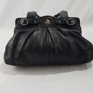 Coach Black Leather Medium Shoulder Bag Purse